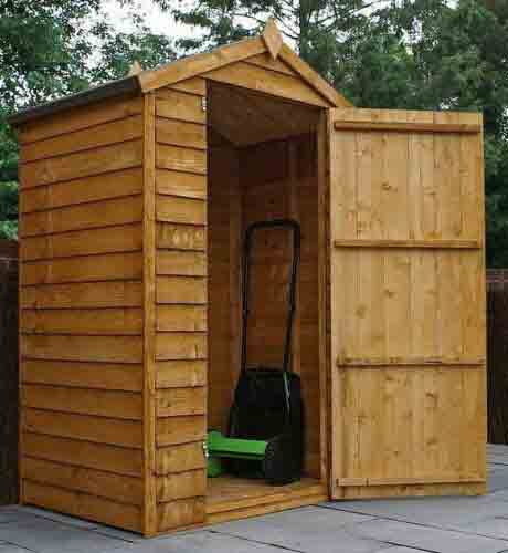 4 x 3 Wooden Garden Apex Bike Store - Windowless