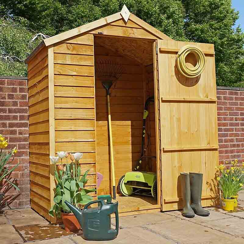 5 x 3 Wooden Garden Apex Bike Store - Windowless