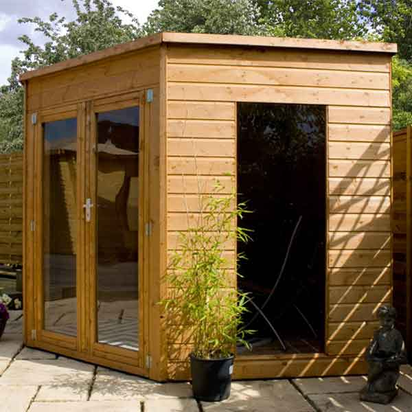 8 X 8 Wooden Garden Corner Summerhouse