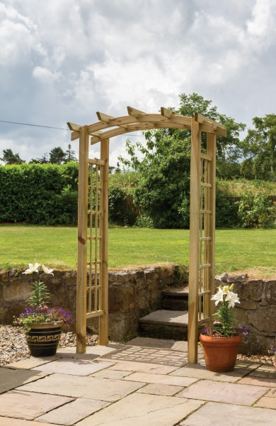 NEW MOONLIGHT ARCH WOODEN PRESSURE TREATED (1.4 x 0.72 x 2.23m)