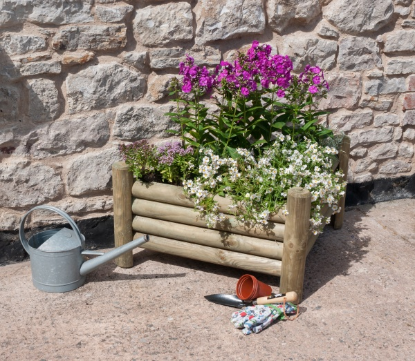 NEW NORBURY CORNER PLANTER WOODEN PRESSURE TREATED (1.05 x 0.78 x 0.42m)