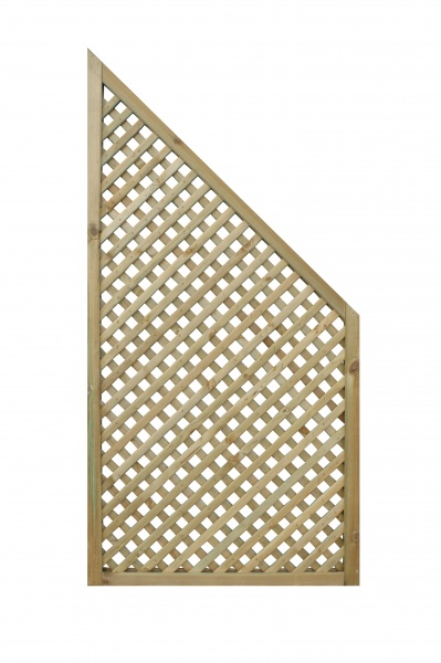 NEW PRIVACY DIAMOND TRELLIS END PANEL (PACK OF 2) WOODEN PRESSURE TREATED (0.6 x 1.27/0.67m)