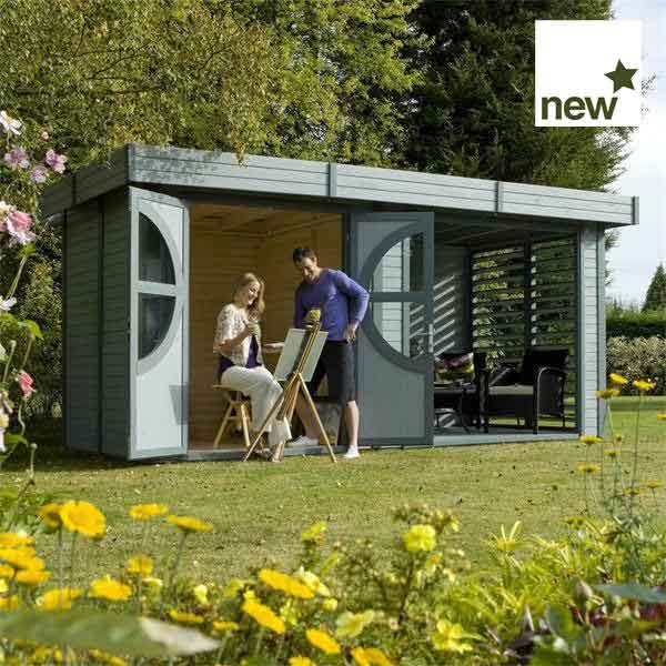16 x 8 Rowlinsons Connor Garden Summerhouse (Painted)