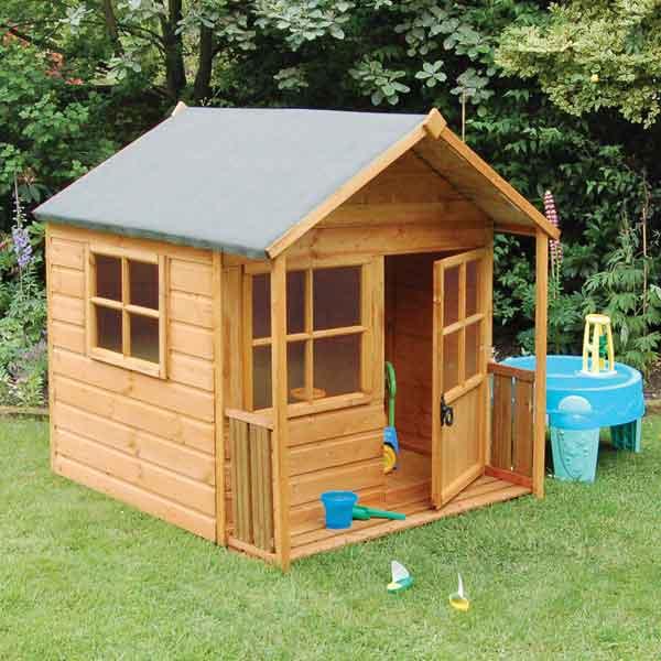 5 x 5 rowlinsons garden playaway playhouse wirh veranda - Garden Sheds With Veranda