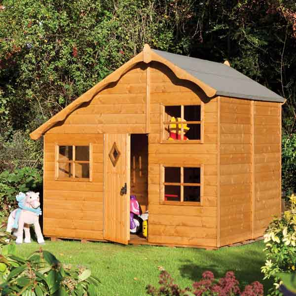 8 x 7 Rowlinsons Playaway Swiss Cottage Garden Playhouse