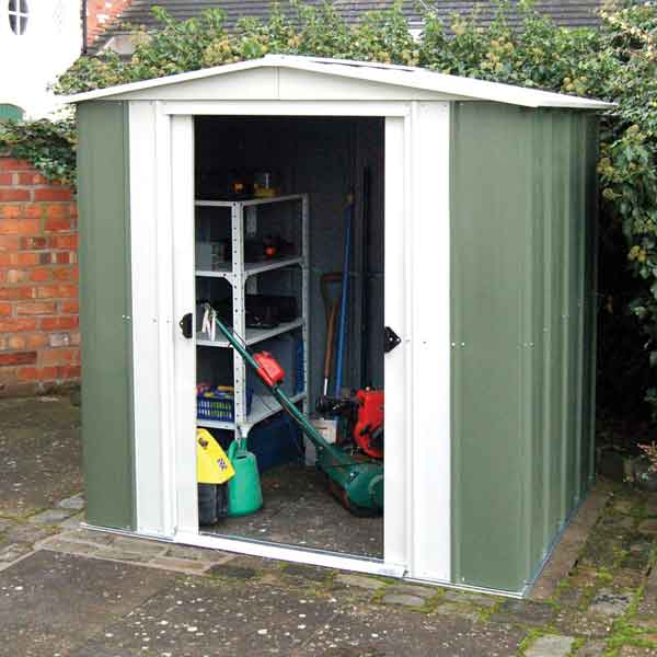 10 x 8 Rowlinsons Metal Apex Garden Shed