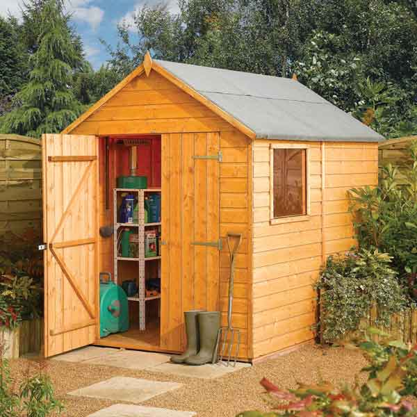 8 x 6 Rowlinsons Tongue & Groove Apex Wooden Garden Sheds