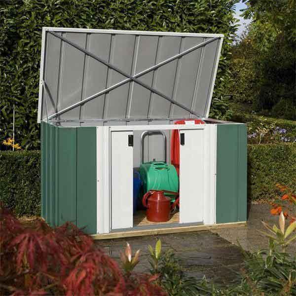 6 X 3 Rowlinsons Greenvale Metal Garden Storage Shed