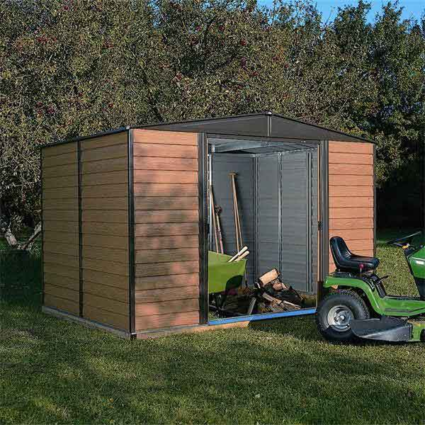 10 x 8 Rowlinsons Woodvale Metal Shed Garden Storage Unit