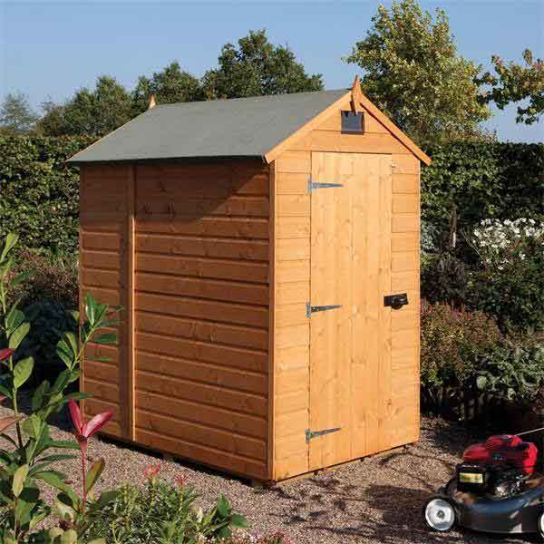 7 x 5 Rowlinsons Apex Wooden Garden Shed Tongue & Groove Roof & Cladding