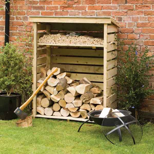 Rowlinsons Small  Garden Log Store