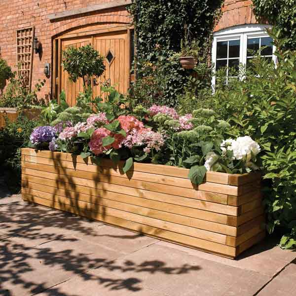 Rowlinsons Wooden Garden Patio Planter