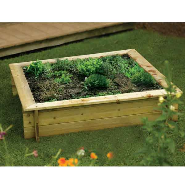 Rowlinsons Raised Bed Wooden Planter/ Childrens Sandpit