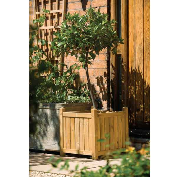 Rowlinsons Wooden Square  Garden Planter