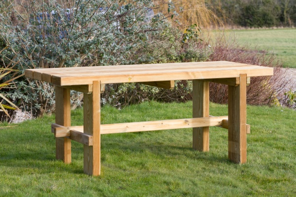 NEW REBECCA TABLE WOODEN PRESSURE TREATED (1.8 x 0.715 x 0.75m)