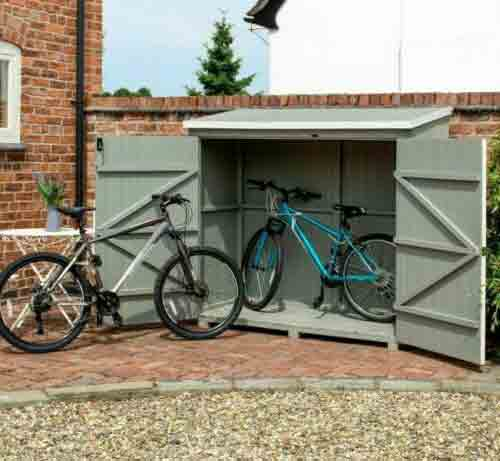 6 x 3 Grey Bike Wallstore Overlap Shed