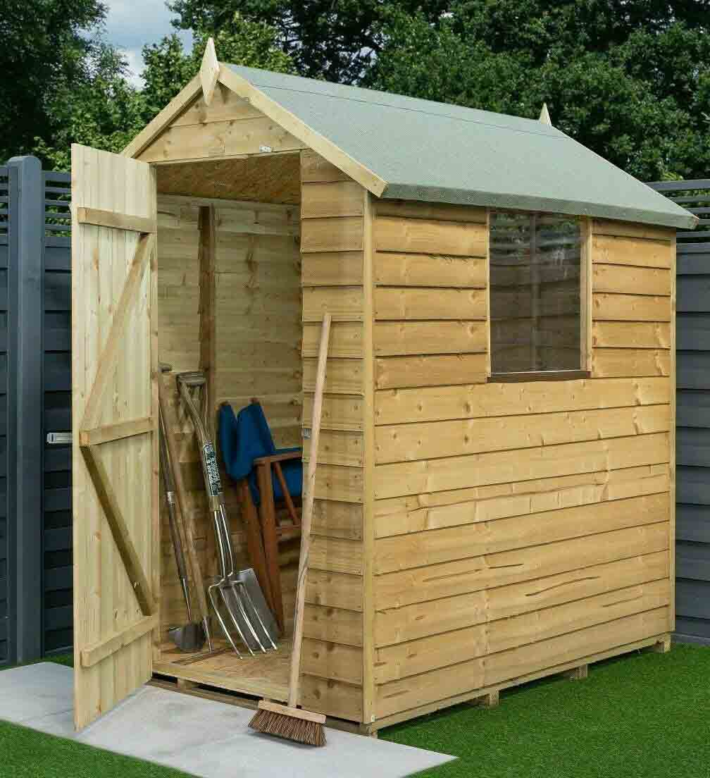6 x 4 Wooden Apex Shed