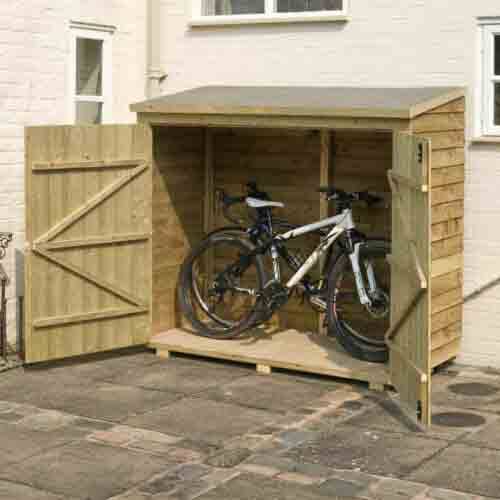 6 x 3 Bike Wallstore Overlap Shed