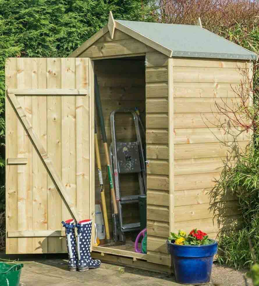 4 x 3 Wooden Apex Shed