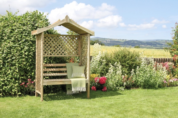 NEW RUTLAND ARBOUR WOODEN PRESSURE TREATED (1.568 x 0.67 x 1.995m)