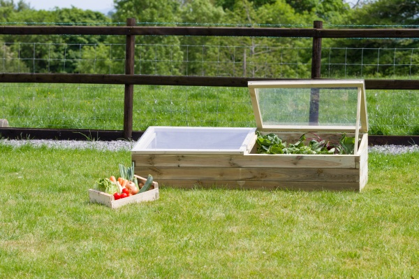 NEW SLEEPER COLD FRAME WOODEN PRESSURE TREATED (1.7 x 0.6 x 0.43/0.32m)