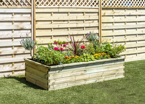 NEW SLEEPER RAISED BED WOODEN PRESSURE TREATED (1.8 x 0.9 x 0.45 m)