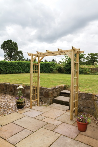 NEW TWILIGHT ARCH WOODEN PRESSURE TREATED (2.1 x 0.72 x 2.13m)