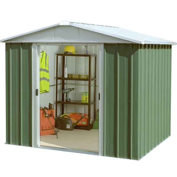 9 X 8 Yardmaster Metal Apex Garden Shed