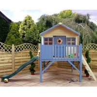 13 x 12 Honeysuckle Tower Playhouse & Slide Childrens Outdoor Play House